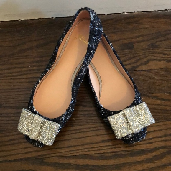 463f9c94463a J. Crew Shoes - J.Crew ballet flats in tweed and glitter